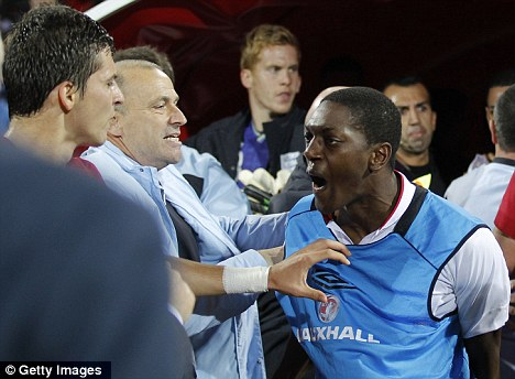 Flashpoint: Sordell was in Serbia where England players were subjected to racist chanting