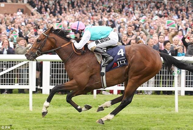 Wonder horse: Frankel storming to victory at Newbury earlier this year