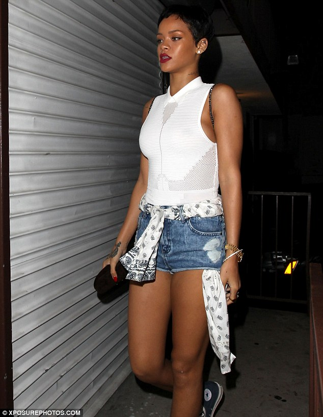 Beauty: The star dressed up for her late night studio session as she took to Twitter throughout the evening