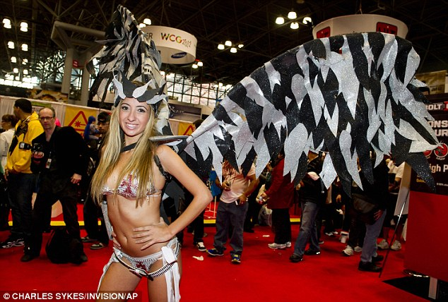 Showing off: It's common for women to wear revealing costumes for comic book conventions when they dress up as their favorite characters