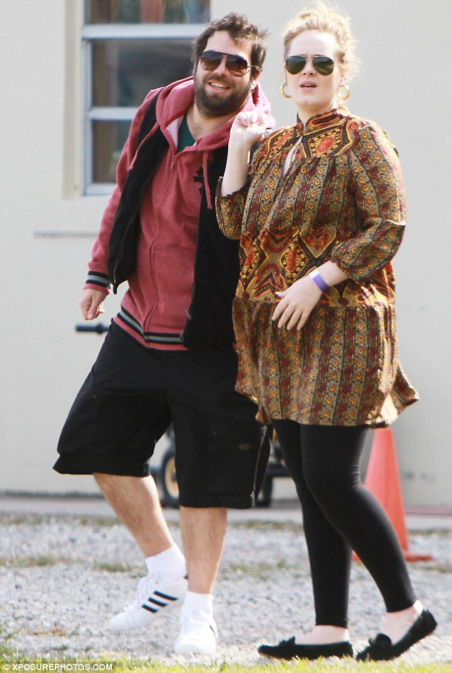 Targets: Adele has found herself the subject of sick message on Twitter following the birth of her son on Friday night