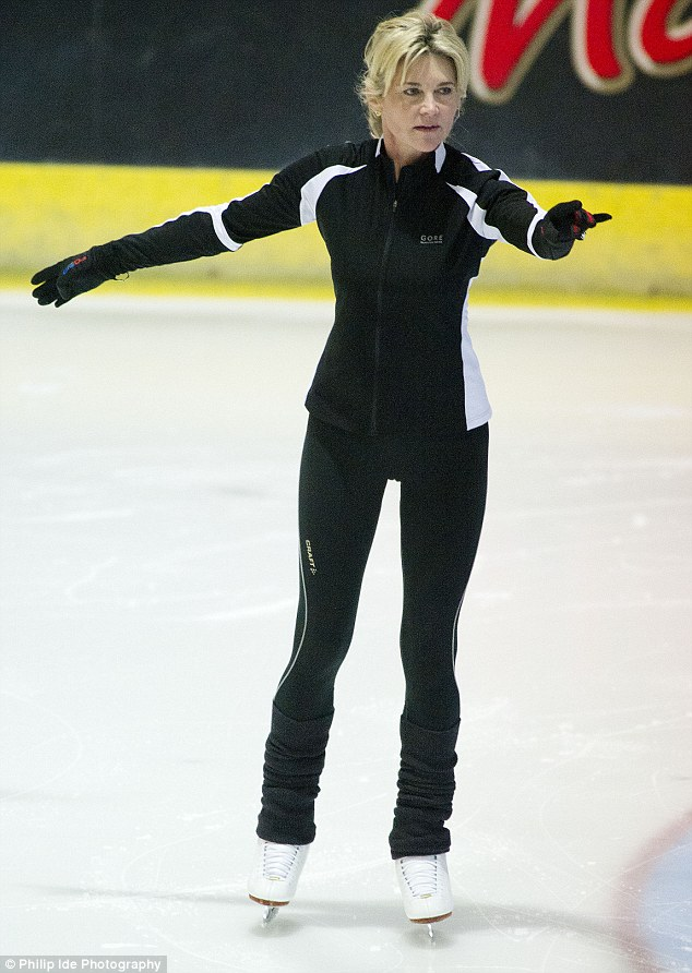 Cool: Anthea puts her best foot forward for TV's Dancing On Ice