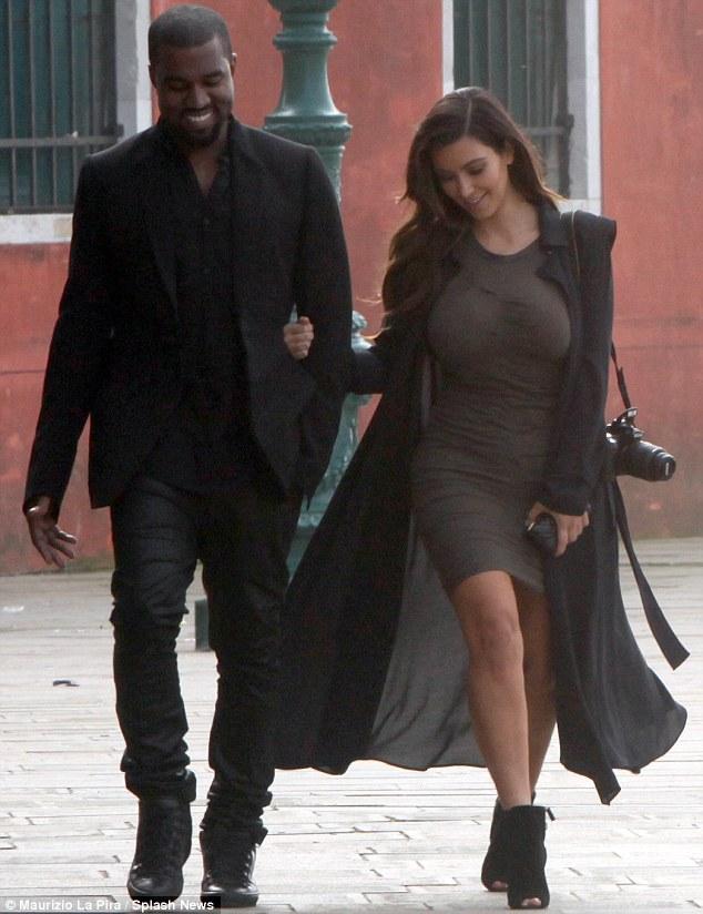 Birthday girl: Kim Kardashian turned 32 with her boyfriend Kanye West by her side in Venice, Italy, on Sunday
