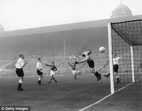 Onslaught: Hungary travelled to Wembley in 1953 and brushed aside another Winterbottom side, beating them 6-3