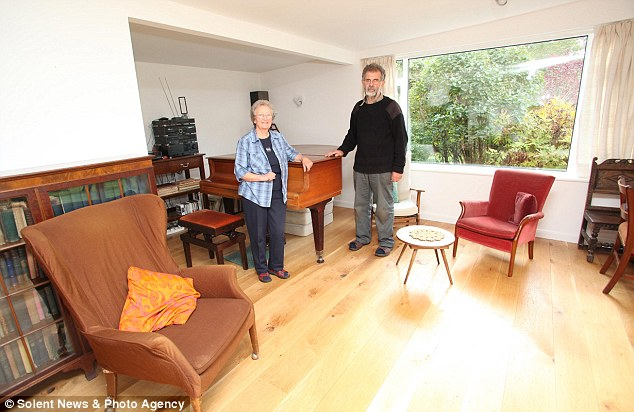 Standing test of time: Their house is filled with inherited furniture - they still cook with pans that were a wedding present 55 years ago