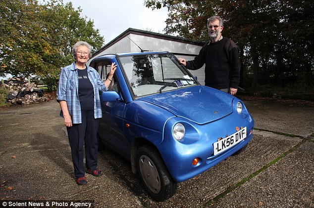 Wheels: The couple also have a solar-powered car which is powered by electricity produced by their solar panels