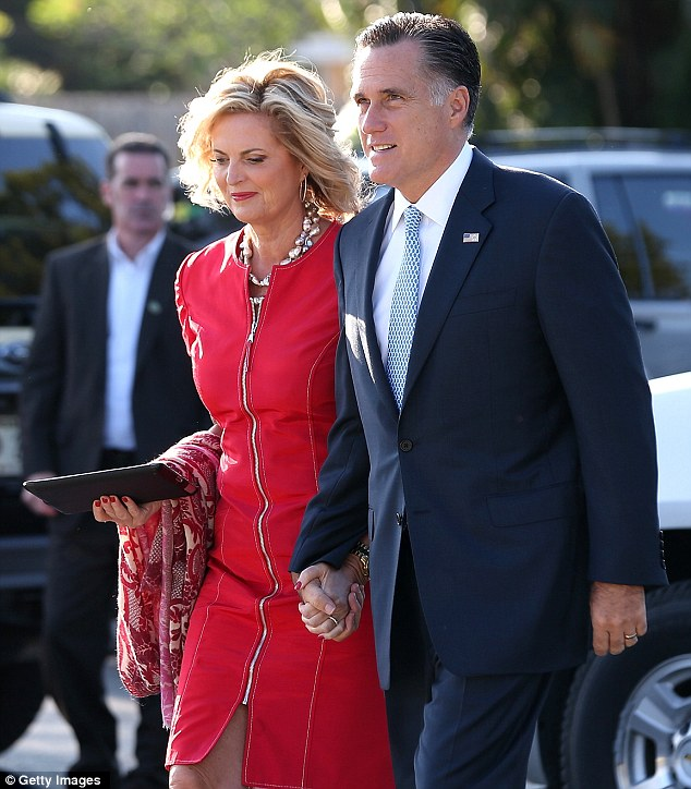 Support: Ann Romney says her husband, Mitt, has always helped her through tough times with her disease
