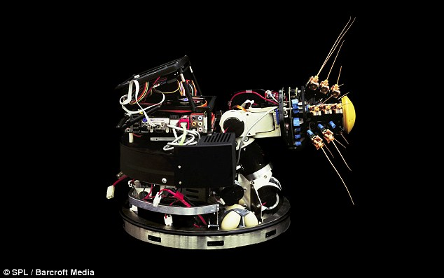 Life-savers: Robots like Shrewbot (above) have sensitive 'whiskers' which could be used to search pitch-black caves for rescue missions