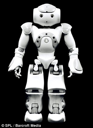 The 58cm tall Nao, a programmable humanoid robot built by French company Aldebaran Robotics photographed in Bristol, England