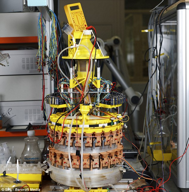 Industrial cleaning: The Ecobot III, a self-sustainable robot which can power itself by feeding off sewage water