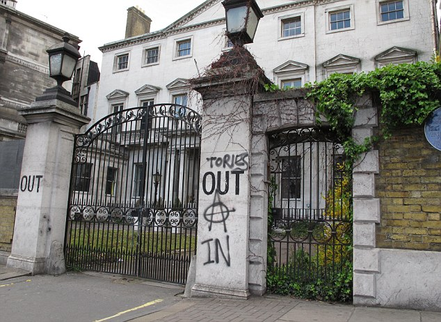 Plans: The once palatial In and Out Club on Piccadilly fell into ruin but will be turned into Britain's most expensive home