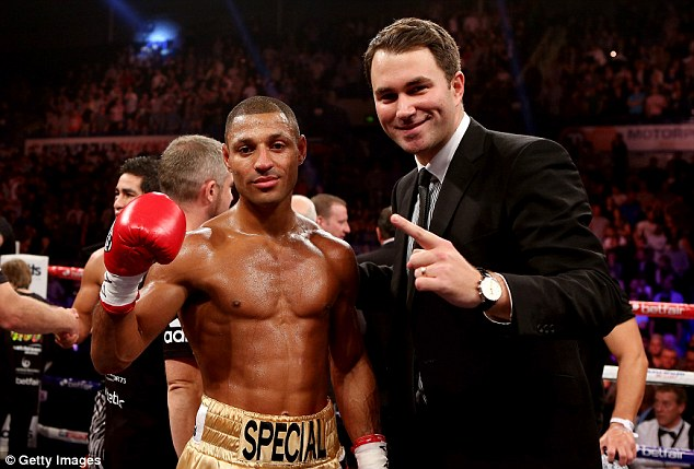 Exciting times: After beating Hector Saldivia, Kell Brook and his promoter Eddie Hearn will be planning for bigger fights
