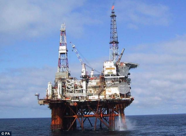 Destination: The helicopter was carrying a oil crew change of 19 people for a rig in the North Sea (file photo)