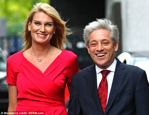 Naff: speaker John Bercow and his wife Sally have splashed out on a pair of personalised number plates