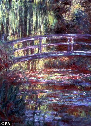 Claude Monet's painting of The Water Lily Pond, dated 1900