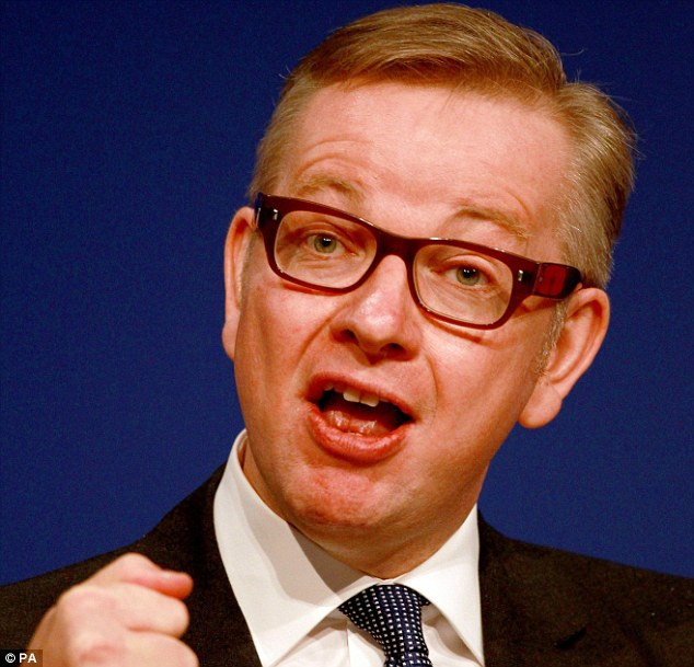 Push: Education Secretary Michael Gove has urged schools to clamp down on classroom troublemakers