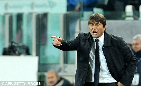 Get him: Juventus coach Antonio Conte wants to strengthen his ranks with Walcott as well as Fernando Llorente, who himself is being tracked by Arsenal