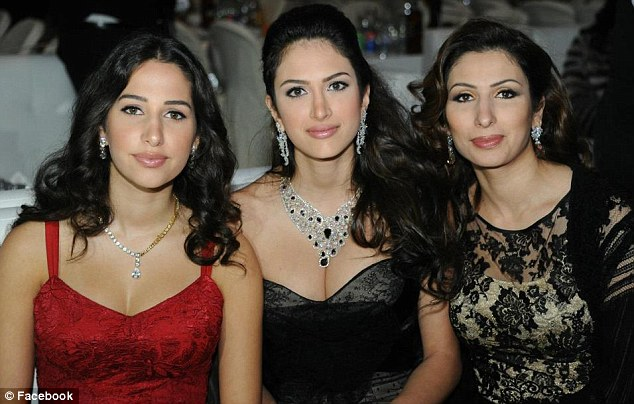 Family: Aya with her sister Sarah (pictured left) had left her family in Lebanon to go with her husband to Abu Dhabi
