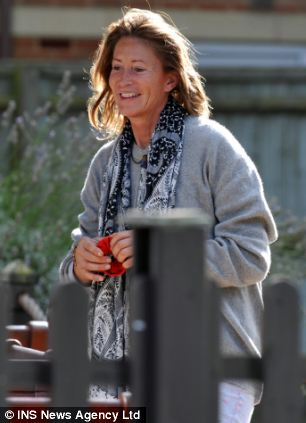 Former model Paula Hamilton pictured  near her home in Farnham Common, Buckinghamshire