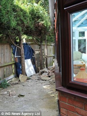 Damage caused to a neighbour's property during a crash involving Paula Hamilton, who shot to fame in the 1980s
