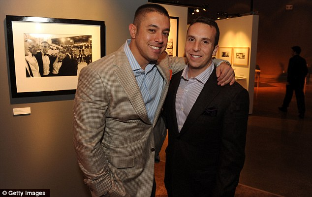 Happy couple: Aaron Rosenberg and Danny Rose attend an event in LA last year. Their elaborate wedding also had a video tribute from Jennifer Lopez