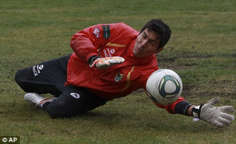 Telepathic? Carlos Arias, who also represents Bolivia, guessed correctly three times