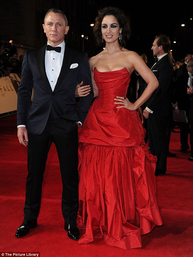 Red hot: The star was joined by co-star Berenice Marlohe