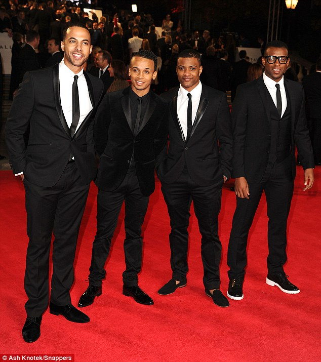 Also in attendance: Former X Factor contestants JLS showed off their matching suits
