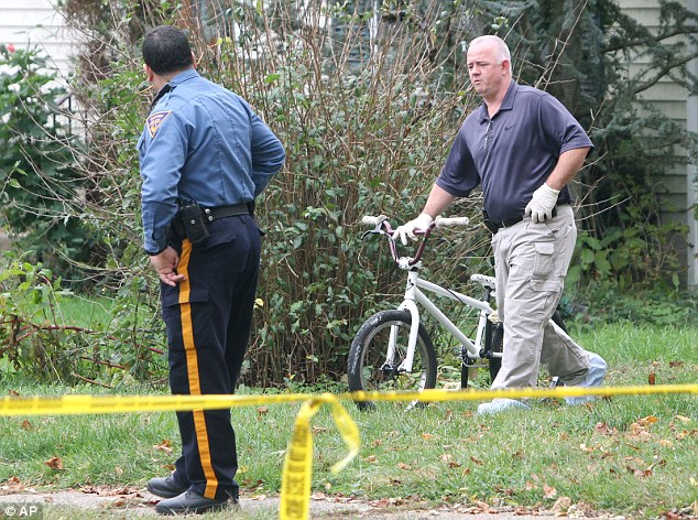 The same? Authorities did not confirm the bike was the one belonging to Autumn, but it matched the description of the white BMX she was seen riding Saturday afternoon before she disappeared