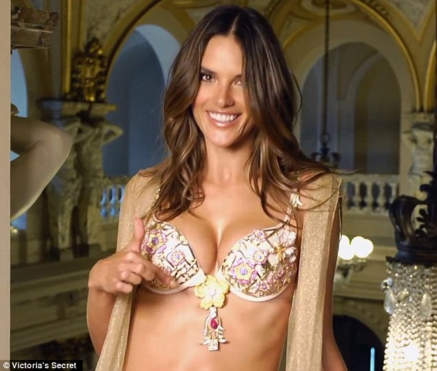 Excited supermodel: Alessandra Ambrosio has been working with Victoria's Secret for 11 years, patiently waiting her turn to wear the highly-coveted Fantasy Bra, an honor reserved for lingerie giant's Angels