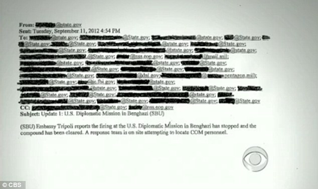 False hope: A second email stated that the attack on the mission had stopped and the compound had been cleared