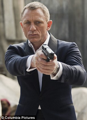 In action: Daniel Craig reprises his role as Bond for the third time in Skyfall