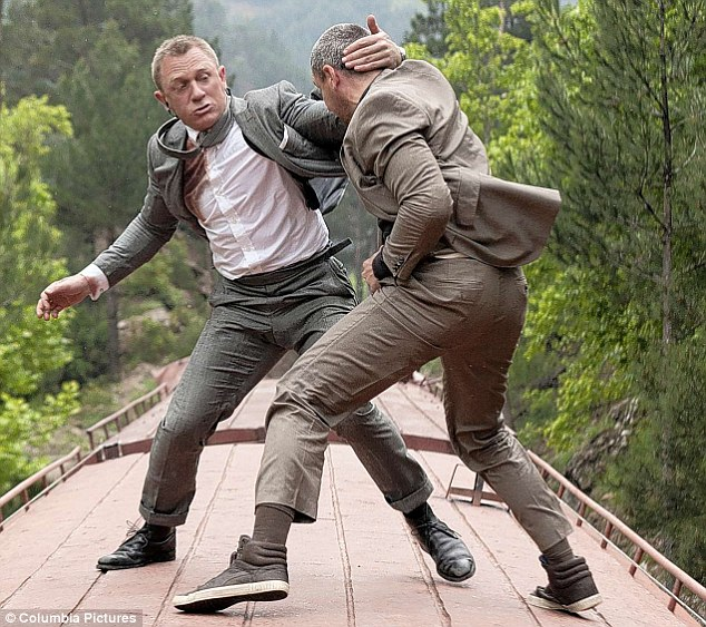 Action-packed: The latest Bond movie is full of dangerous stunts sure to delight the audience