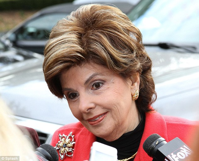 Arrival: Allred was in court today in an attempt to unseal Romney's sworn testimony in a prior court case