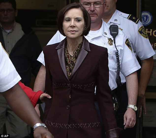Back in court: Maureen Stemberg Sullivan leaves Norfolk County Probate Court on Wednesday