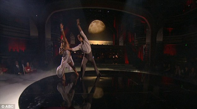 A dance to the glow of the moon: Derek and Shawn's number was performed to a striking backdrop