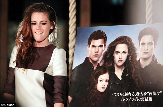Working it: Kristen seemed to be in her element as she began the promotional trail for Twilight: Breaking Dawn Part 2