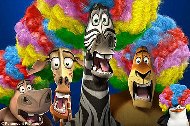 Family fun: Children as young as five thought they were about to watch Dreamworks' Madagascar 3