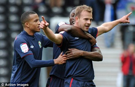 Aiming for the top: Jordan Rhodes is spearheading Blackburn's drive