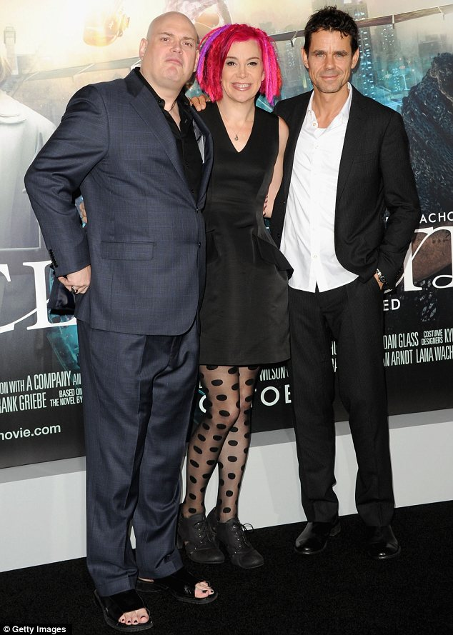 Dream team: Sibling directors of Cloud Atlas, Andy and Lana Wachowski (left and centre) of Matrix fame, with fellow director Tom Tykwer
