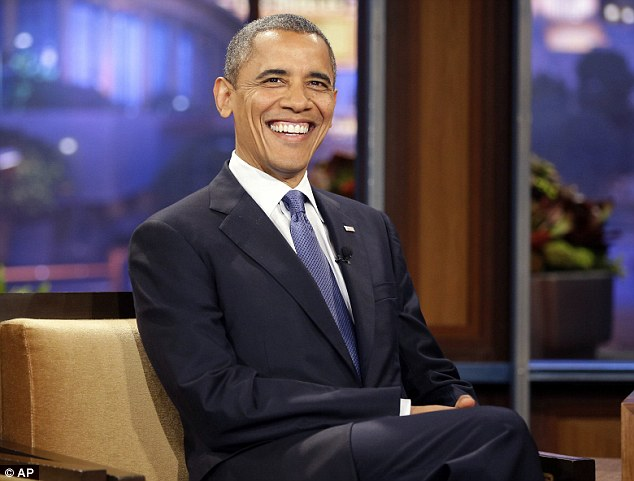 Repeat guest: This was Mr Obama's fifth time on The Tonight Show