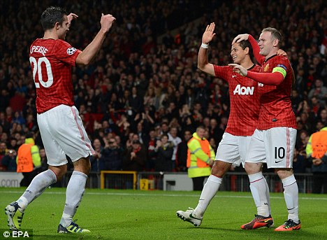 Firepower: United should start with Robin van Persie (left) and Wayne Rooney (right)