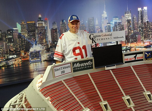 Giants fan Don Martini was so upset the clubs iconic stadium was torn down he's built a £12,000 model replica