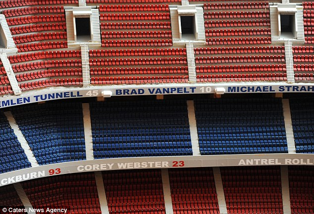 Don spent two years and $20,000 building the replica of the 80,000 seat ground in his garage