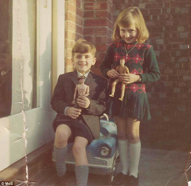 Innocence lost: A young Fiona with her brother Mark in 1969. She said her secondary school transformed her from a promising pupil into a vile teen