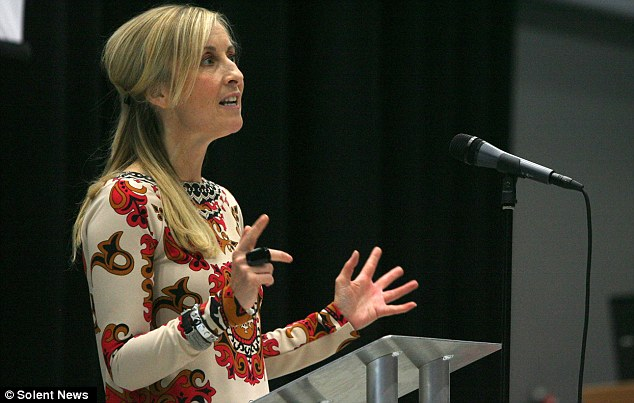 Rant: Fiona Phillips slammed the education she received at Millbrook School in Southampton when she was invited to be a guest speaker at a ceremony celebrating their rebranding as an Academy