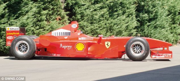Among the lots on offer at RM Auctions Automobiles of London is this 1998 Ferrari F300 Formula One Racing car, worth £520,000