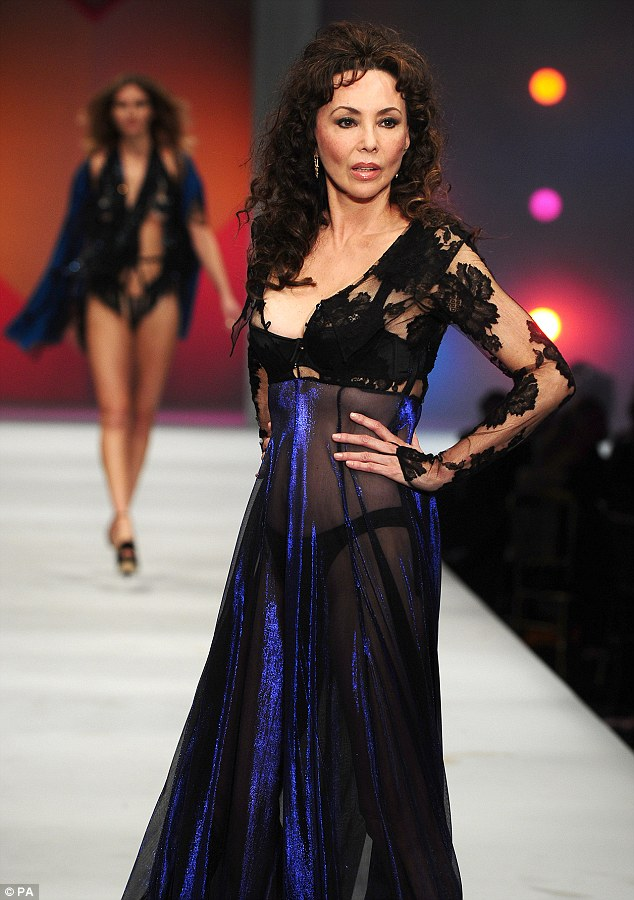 Hot to trot: Marie Helvin, 60, wowed on the catwalk on Wednesday night, at the Lingerie London fashion show and gala at the Old Billingsgate Market, London