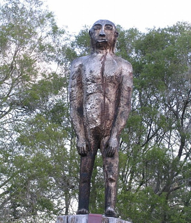The yowie - the Australian version of a mythic ape-like creature that inhabits remote woods