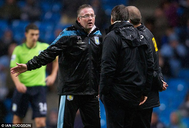 Struggle: Lambert (left) has yet to deliver results for Villa